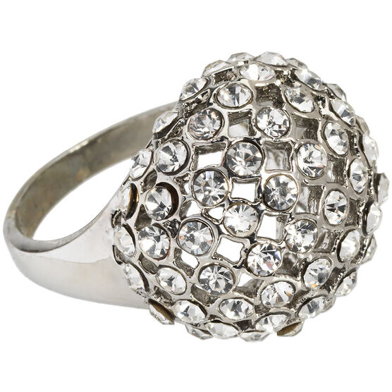 Marca Clear Crystal Ring - Size 8
