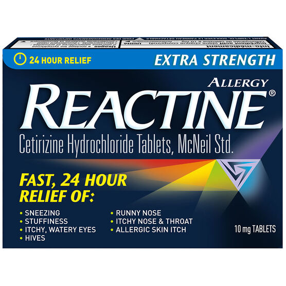 Reactine Allergy - Extra Strength - Non-Drowsy - 10mg/84's
