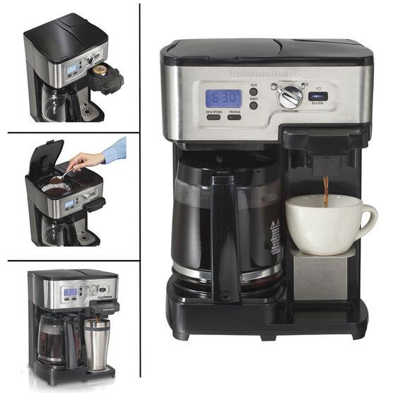 Hamilton Beach 2-Way Deluxe Coffeemaker - Black - 49983C