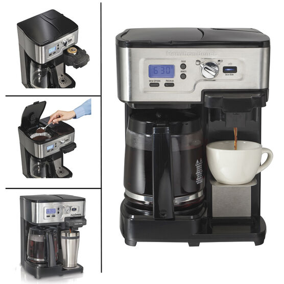 Hamilton Beach 2-Way Deluxe Coffee Maker - Black - 49983C ...