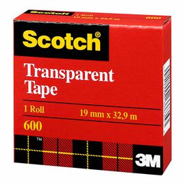 3M Scotch Transparent Tape - 18mmx33mm
