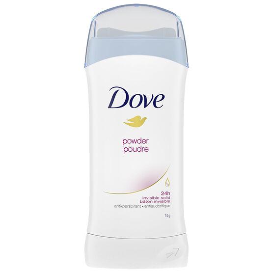 Dove Invisible Solid Anti-Perspirant - Powder - 74g