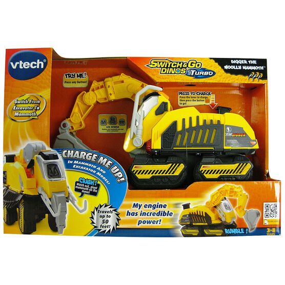 Vtech Switch & Go Dinos Turbo - Digger the Woolly Mammoth