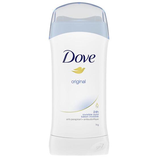 Dove Invisible Solid Anti-Perspirant Stick - Original - 74g
