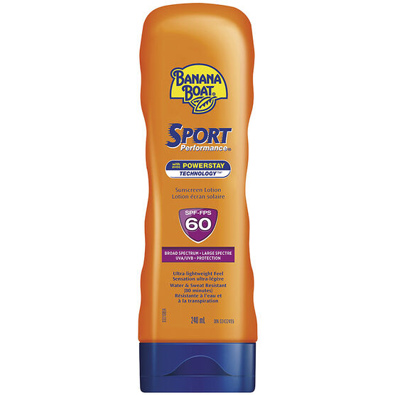Banana Boat Sport Performance Sunscreen Lotion - SPF60 - 240ml