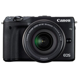 Canon EOS M3 with EF-M 18-55mm IS STM Lens - Black - 9694B011