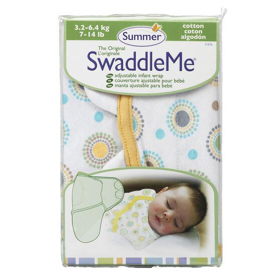 Summer Infant SwaddleMe Cloth - 7-14 lbs - Circle Burst Cotton