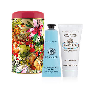 Crabtree & Evelyn Hand Therapy Ornament Tin - La Source - 2x25g