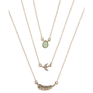 Lonna & Lilly 18-inch Layered Pendant Necklace - Green