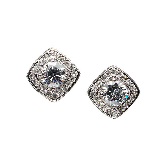 Eliot Danori Costume Earrings - Square Frame