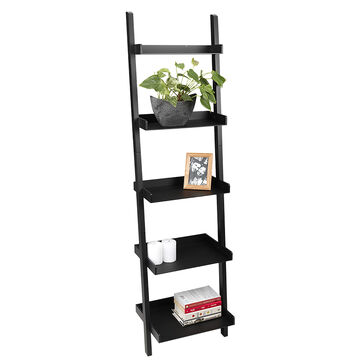 Hadfield 5 Tier Bamboo Shelf - Black - 67 x 18inch