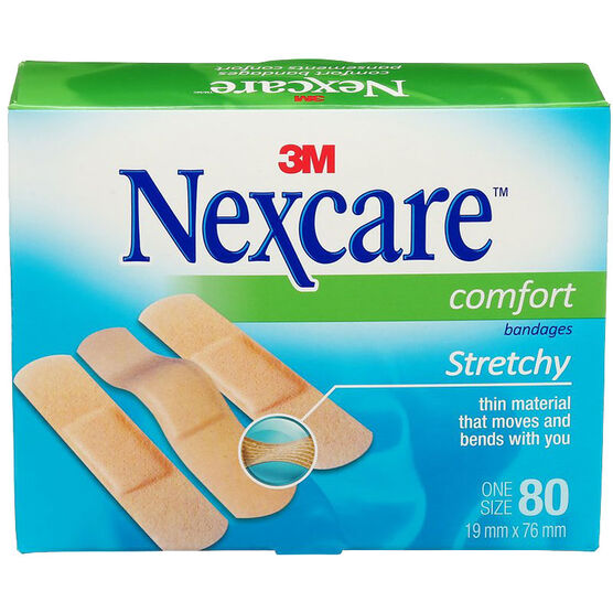 3M Nexcare Comfort Strips Bandages - 80's/one size