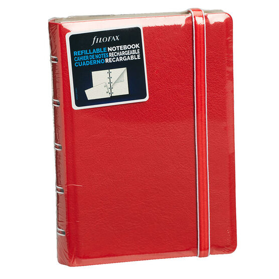 Filofax Refillable Pocket Notebook - Red - 112 Pages
