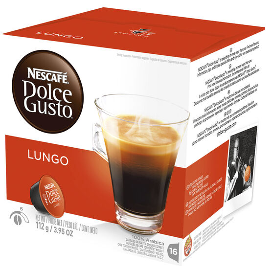 Nescafe Dolce Gusto Coffee Pods - Caffe Lungo - 16's