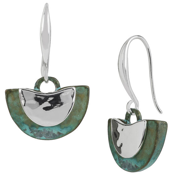 Robert Lee Morris Silver Plated Drop Earrings - Patina