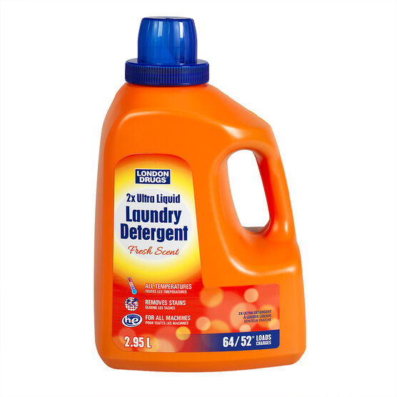 London Drugs HE 2x Ultra Liquid Laundry Detergent - Fresh Scent - 2.95L