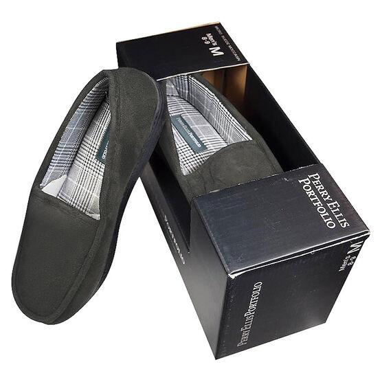 Perry Ellis Portfolio Premium Men's Slippers - Grey - Assorted