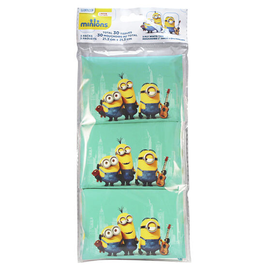 Minion's Wallet Tissue Packs - 3's