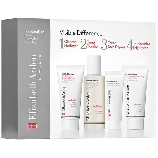 Elizabeth Arden Visible Difference Skin Balancing Starter Set - Combination Skin - 4 piece