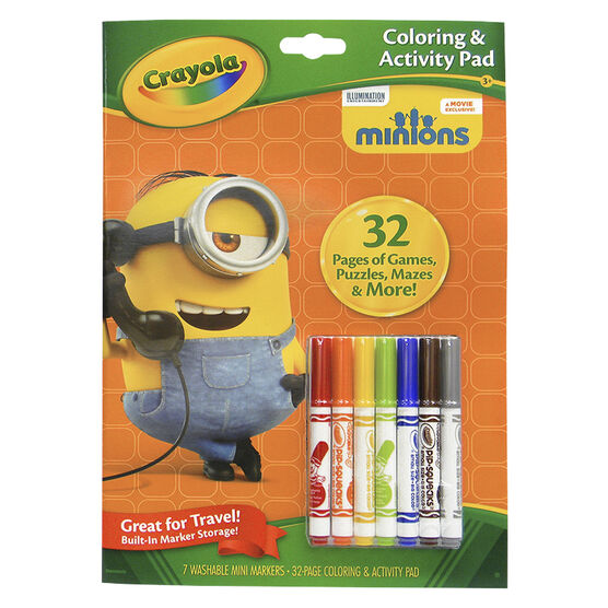 Crayola Minions Coloring & Activity Pad - 32 pages