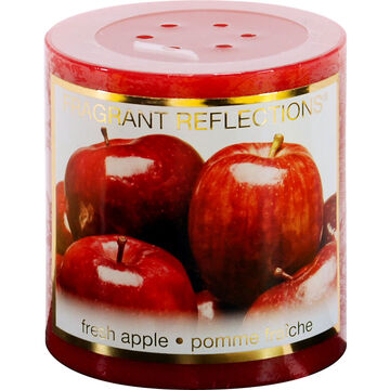 Fragrant Reflection Pillar Candle - Fresh Apples - 3 inch