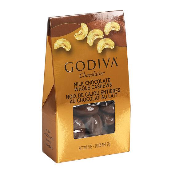 Godiva Milk Chocolate Cashews - 57g