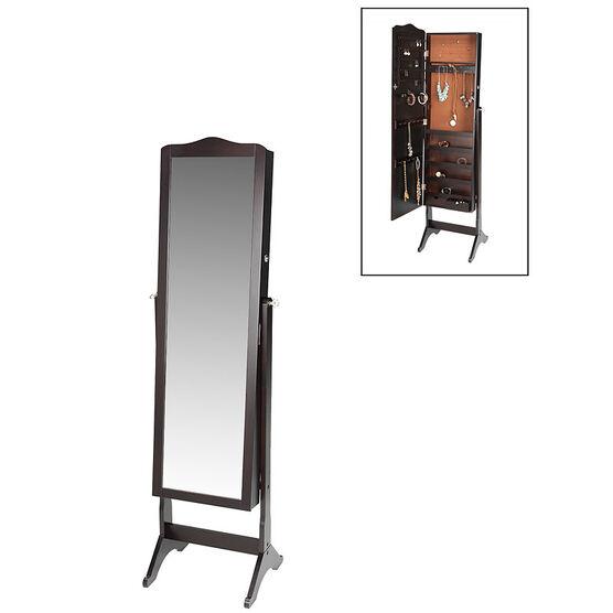 London Drugs Mirror Jewellery Cabinet - Espresso - 41 x 38 x 158cm