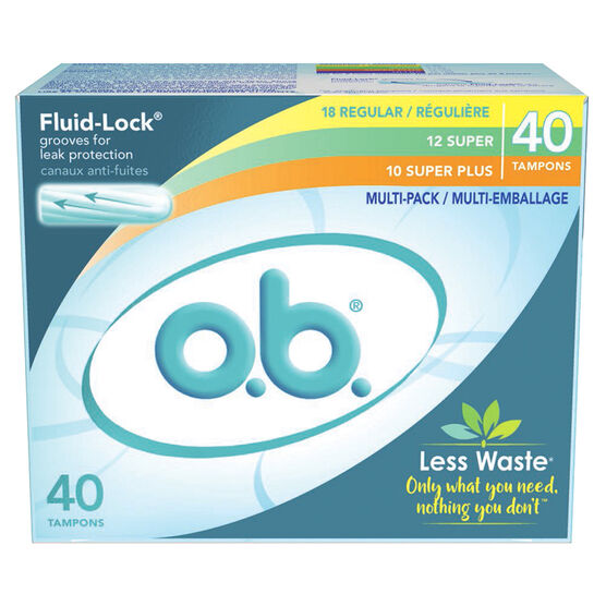 O.B. Tampons - Multi-Pack - 40's