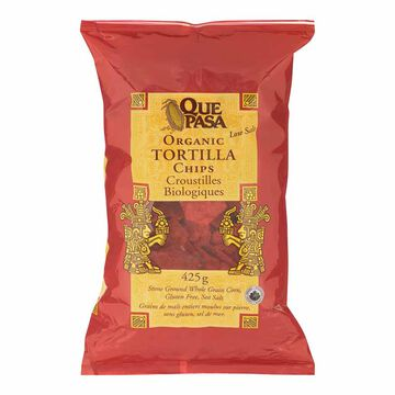 Que Pasa Organic Corn Tortilla Chips - Red - 425g