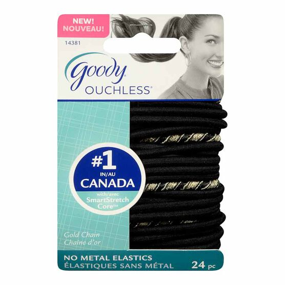 Goody Ouchless Elastics - Gold - 24's