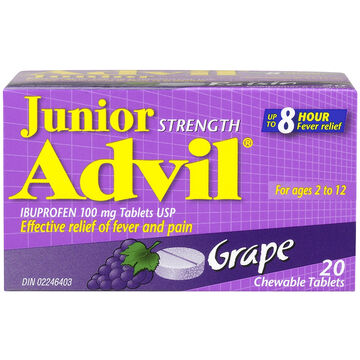 Advil Junior Chewable Tablets - Grape - 20's