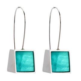 Merx Resin Shell Drop Earrings - Turquoise