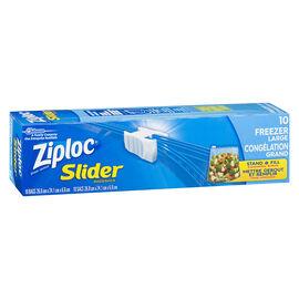 Ziploc Slideloc with Easy Zipper Freezer Bag - Large - 10's