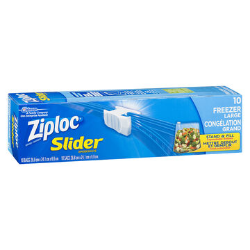 Ziploc Slideloc with Easy Zipper Freezer Bag - Large - 10's