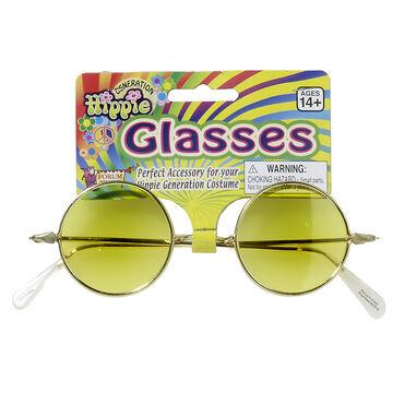 Halloween Yellow Hippie Glasses