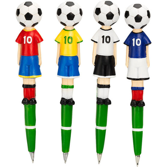 Hand Painted Soccer Pens - Assorted