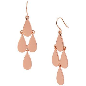 Kenneth Cole Teardrop Chandelier Earrings - Rose Gold Tone