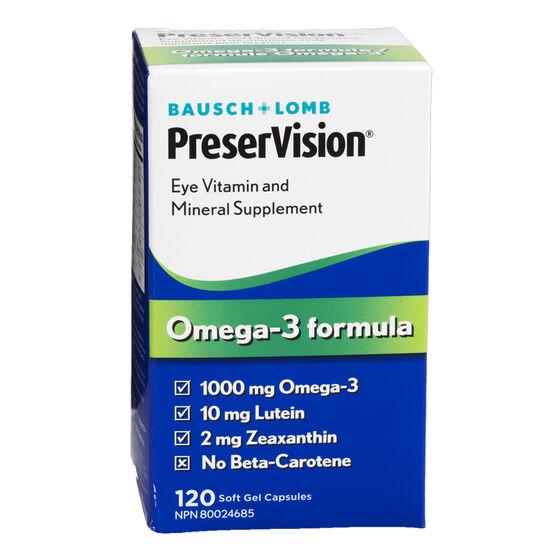Bausch & Lomb PreserVision Omega-3 Formula Softgels - 120's