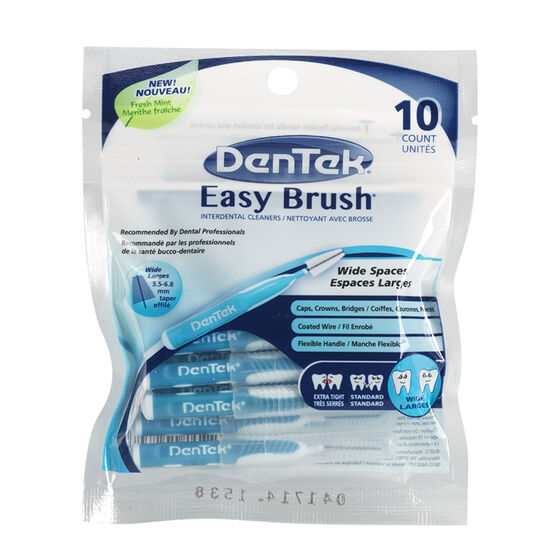 DenTek Easy Brush Interdental Cleaners - Wide Spaces - 10's