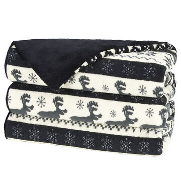 Sunbeam Microplush Heated Throw - Deer Pattern
