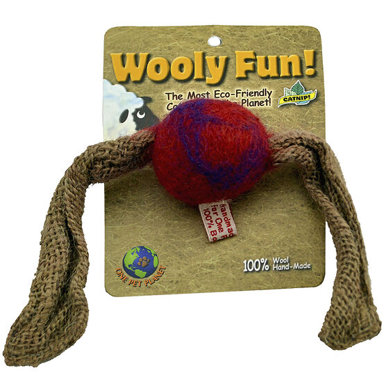 One Pet Planet Wooly Fun Cat Toy - Tasle Ball