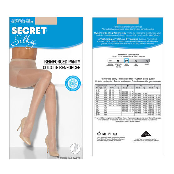 Secret Silky Sheet Panty Hose - B - Nude