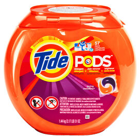 Tide Pods Detergent with Stain Remover and Brightener - Spring Meadow - 57's