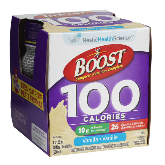 Boost 100 Calories Drink - Vanilla - 4 x 125ml