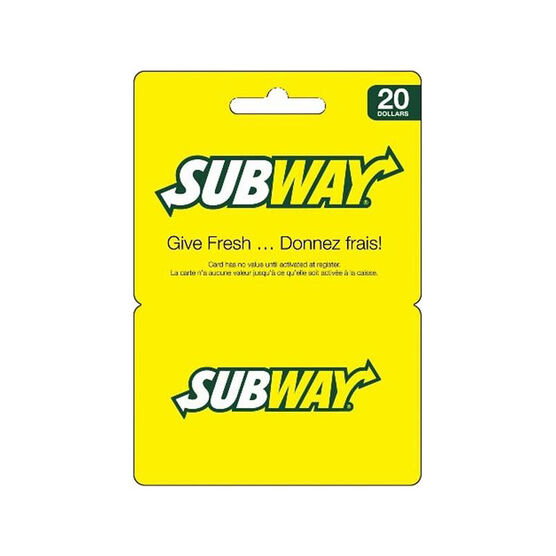 Subway Gift Card - $20