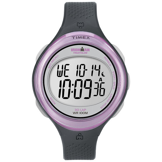 Timex Ironman Clear-View 30 Lap Watch - Grey/Pink - T5K600GP