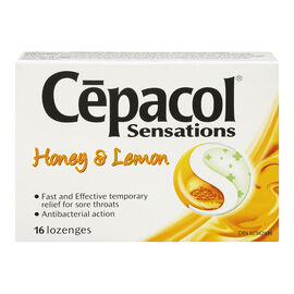 Cepacol Sensations Lozenges - Honey Lemon - 16's