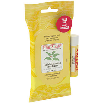 Burt's Bees Facial Cleansing Towelettes with Coconut Lip Balm