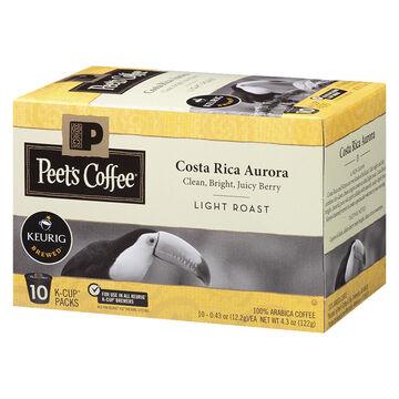 Peet's Coffee Pods - Costa Rica Aurora - 10 servings