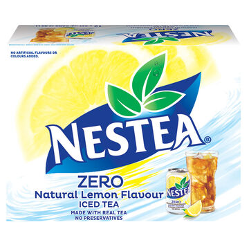 Nestea Zero Iced Tea - Natural Lemon Flavour - 12x341ml